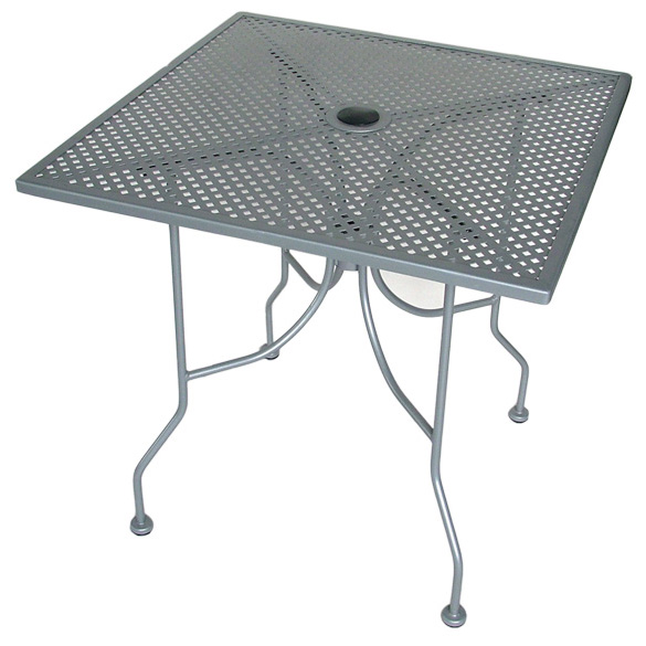 square table -silver